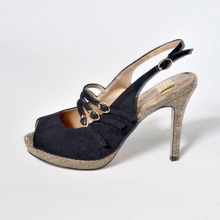 Zapatos beige de punta abierta formales Toogoo(r) para mujer FCOQE