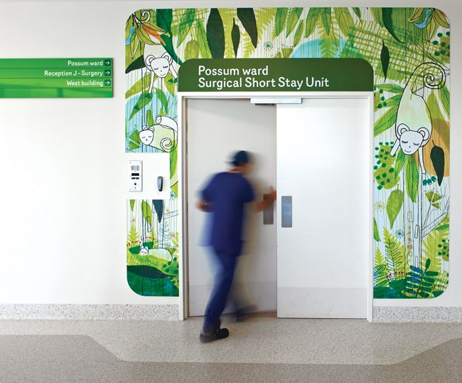 Royal Children's Hospital, Australia    by Buro North  2011 - - -   (for more wayfinding, environmental graphics and murals visit http://www.graphicambient.com)
