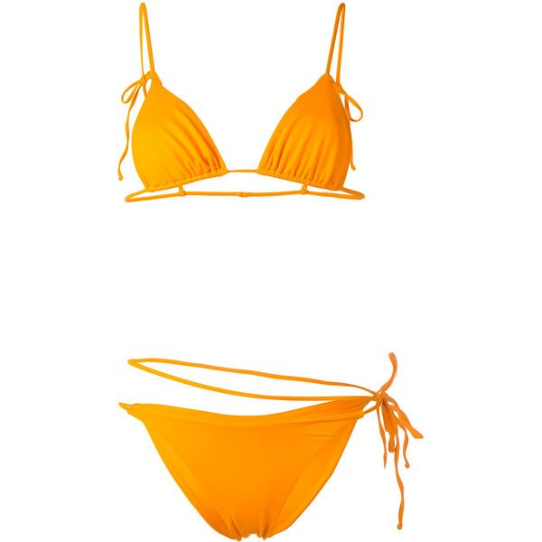 Sian Swimwear Maja bikini set (2110 MAD) ❤ liked on Polyvore featuring swimwear, bikinis, orange, bikini swim wear, spandex swimwear, bikini beachwear, bikini two piece and bikini swimwear