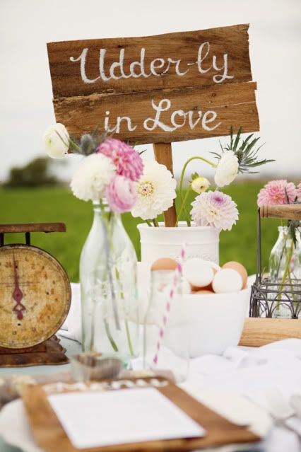 We love this! Udder-ly in Love - Milk and Cookies Wedding Shower Party