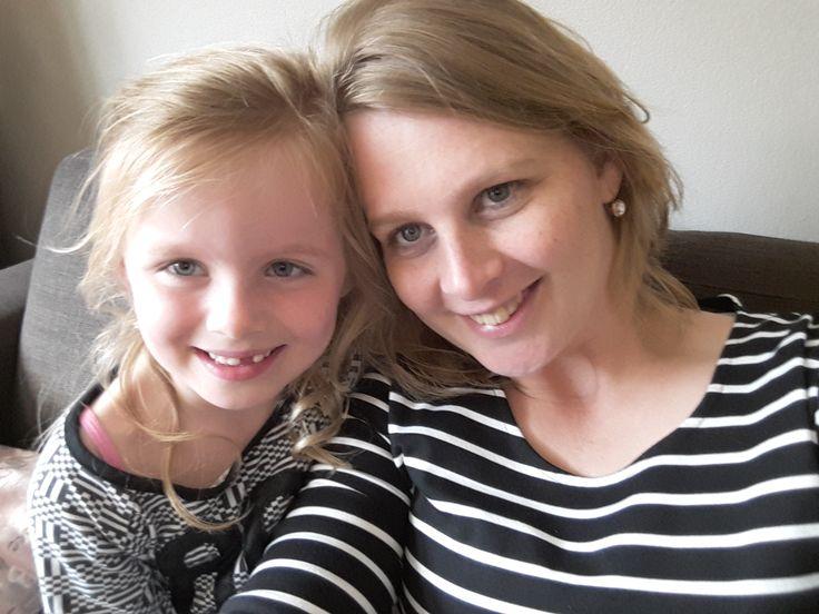 Lisa met mama