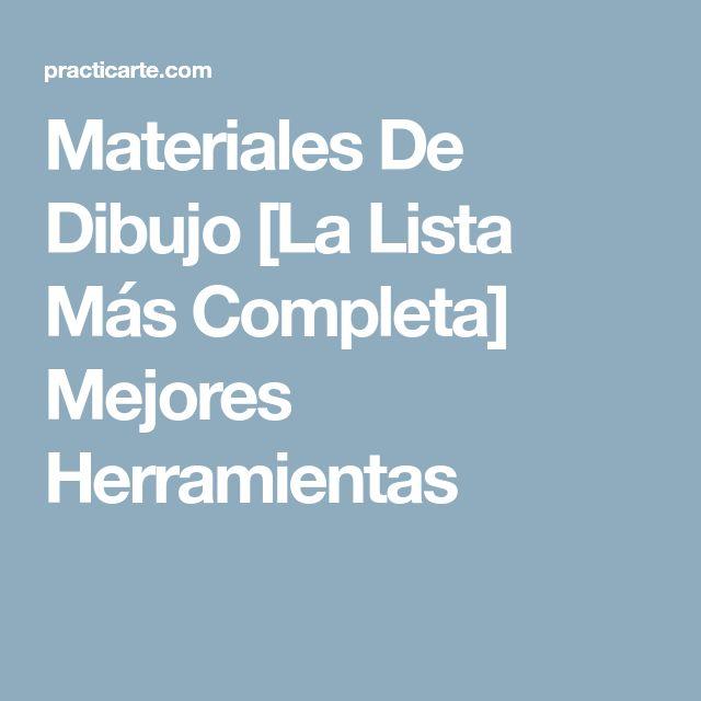 Materiales De Dibujo [La Lista Más Completa] Mejores Herramientas