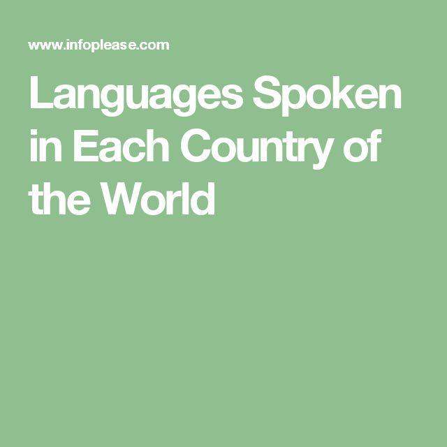 Languages Spoken in Each Country of the World