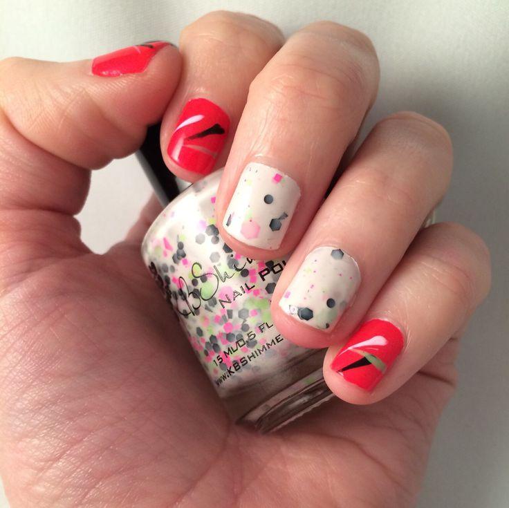 Nail art. 80's neon gumball nails.