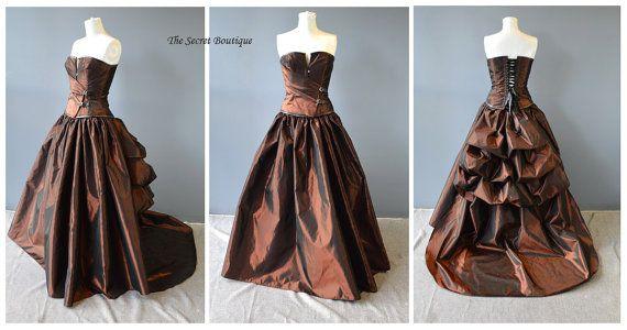 steampunk wedding dress-alternative wedding gown-alternative dress-unique wedding dress-corset-steampunk prom-denver-the secret boutique