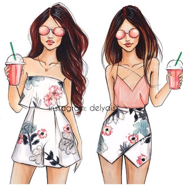 Summer Styl'n #FashionIllustrations @delyais| Be Inspirational ❥|Mz. Manerz: Being well dressed is a beautiful form of confidence, happiness & politeness