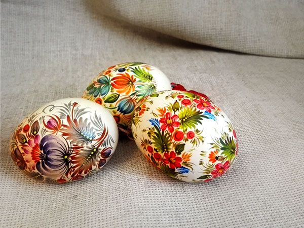 Easter eggs with Petrikov painting Писанки с Петриковской росписью