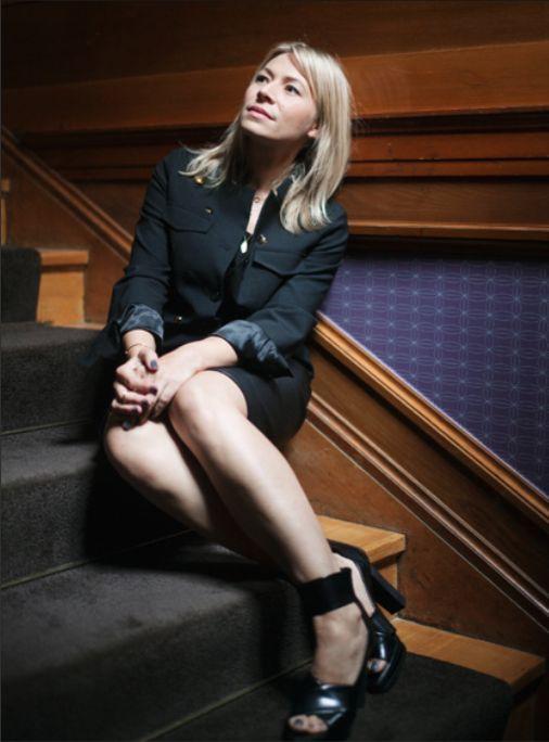 Actress Frida Hallgren wearing the Tangled Sandal # ...