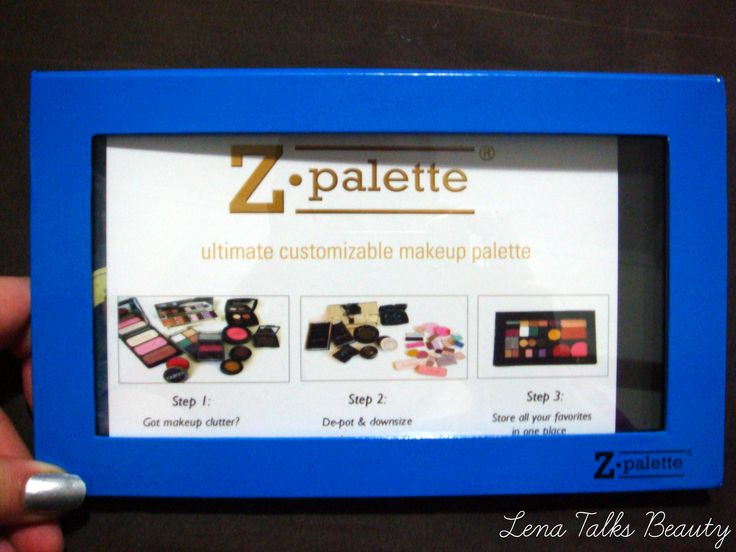 Instructions for how to depot makeup to use in a Z palette