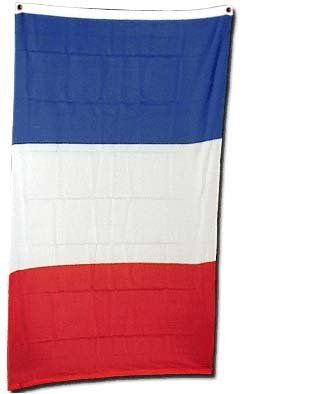 """New 2x3 National Flag of France French Country Flags by NationalCountryFlags. $4.49. Includes 2 Brass grommets for hanging!. Double sewn edges for durability. Lightweight and great for hanging inside and out doors. Brand new 2' x 3' (24"""" x 36"""") Super-Polyester France flag. The national flag of France (drapeau tricolore, drapeau bleu-blanc-rouge, drapeau français, rarely, le tricolore and, in military parlance, les couleurs) is a tricolour featuring three vertical band..."""