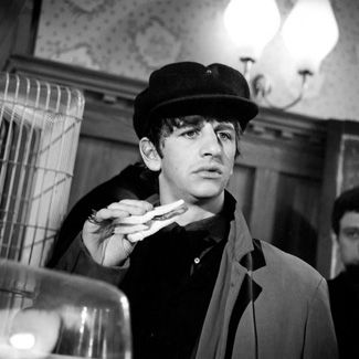 """10th March 1964. Ringo filmed his solo for """"A Hard Day's Night"""" at the Turks Head pub on Winchester Road in Twickenham, Middlesex"""