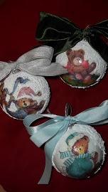 Sfere di Natale con orsetti