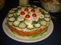 Weihnachts-Salattorte :-D