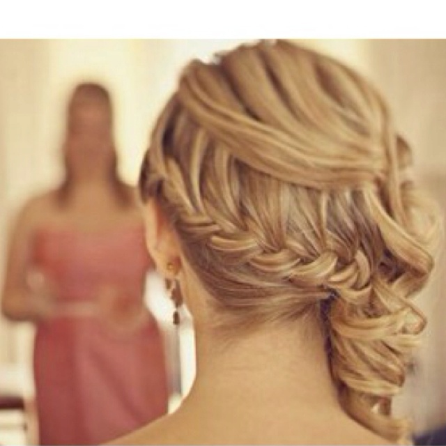 Waterfall braid. wedding hair style