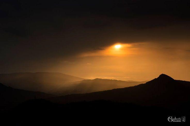 SELECTION OF THE DAY by #Expo #FineArt #Photography Dark sundown Panaro valley - 2014 Photo © Giovanni Modesti #Landscape