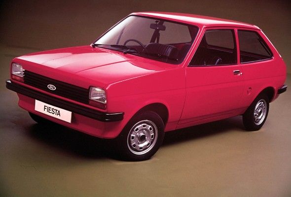 Ford Fiesta mk1. Exactly like my very first car....except that mine had one black wing!