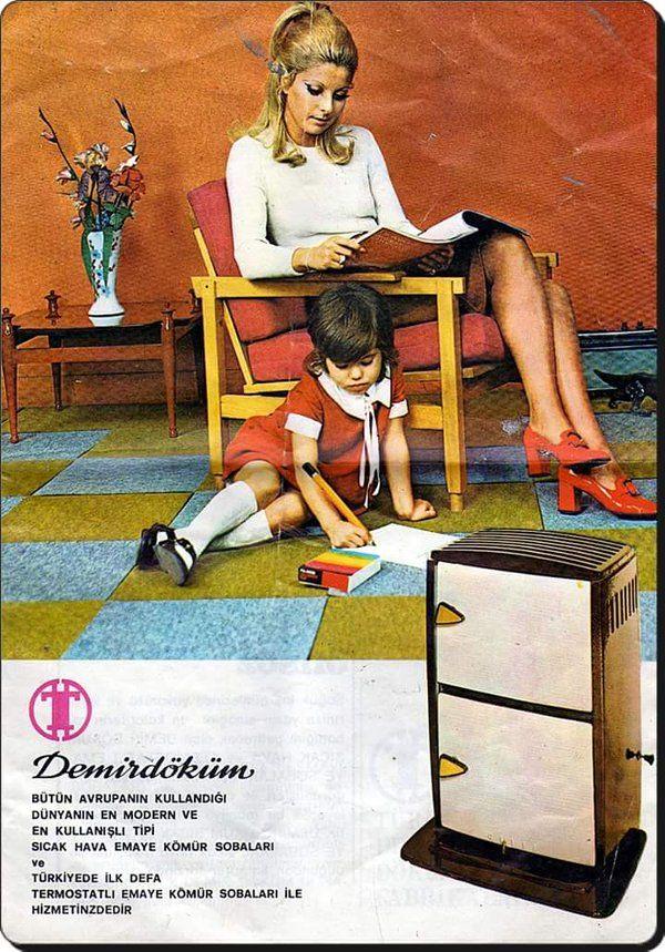 """""""Dünyanın en modern kömür sobaları"""" (Eski Reklamlar / 70'li yıllar) #birzamanlar #istanbul #istanlook #eskireklamlar"""