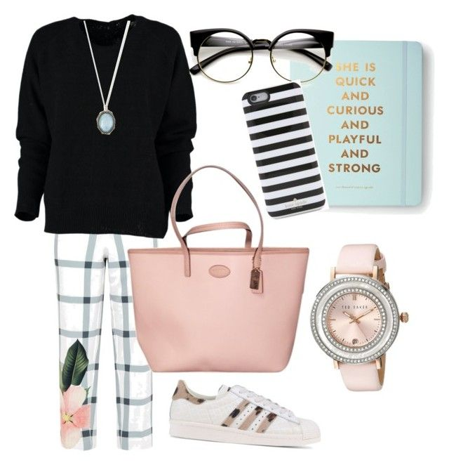 """""""Untitled #97"""" by nenglita on Polyvore featuring Ted Baker, adidas Originals, Coach, Armenta and Kate Spade"""