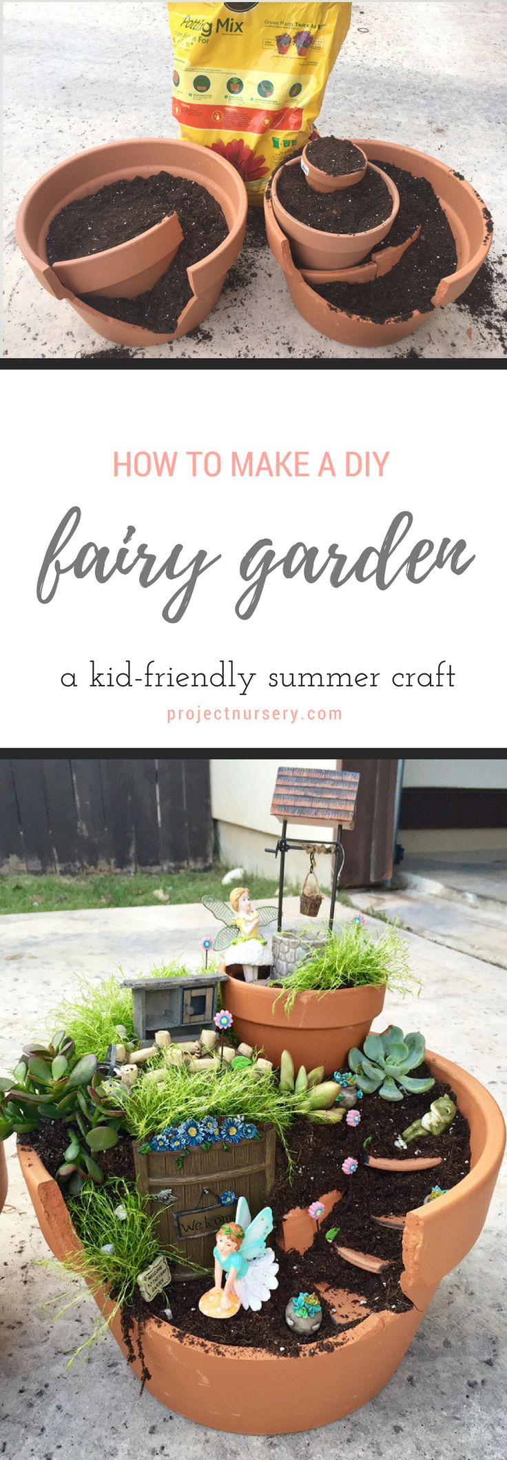 Add this fun summer DIY to your to-do list. Your kids will LOVE making their own fairy garden! (And, the supplies will cost you less than $50.)