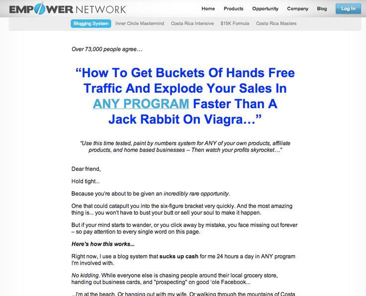 Empower Network: Blogging System