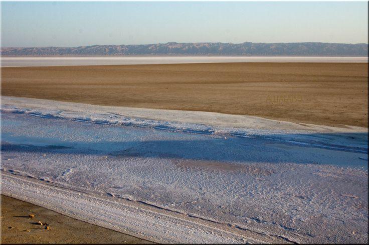 Landscape from Salt Lake, Chott el Djerid  by Aili Alaiso