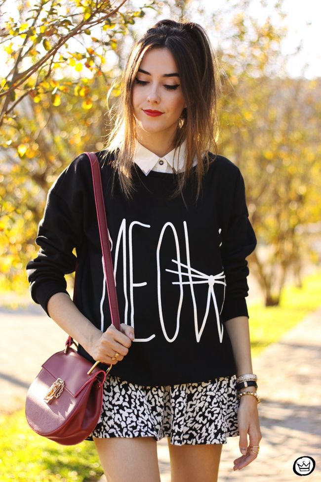 FashionCoolture - 06/11/2015 look du jour Ethus black and white jumper outfit cute (2)