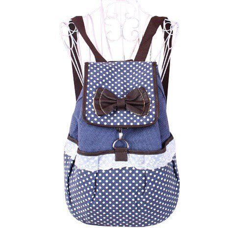 New Fashion Girl's Lovely Sweet Bowknot Leisure Canvas Backpack schoolbag for Student by Autofor (Blue with Dot) by autofor, http://www.amazon.com/dp/B00ESCN79M/ref=cm_sw_r_pi_dp_esblsb1Y6AC9J