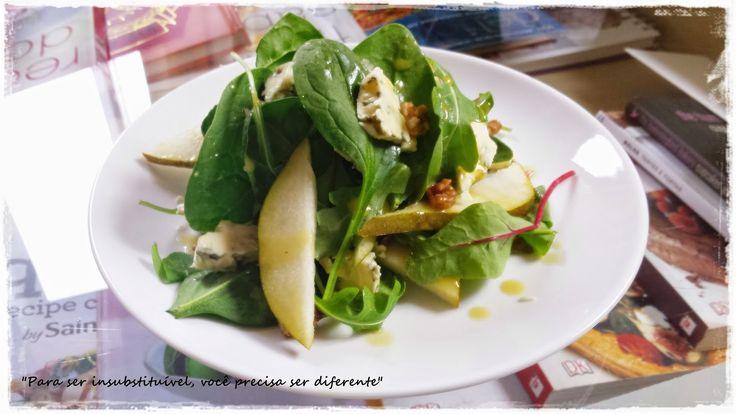 Me, you & pets too: Salada de pêra, queijo dolcelatte e nozes