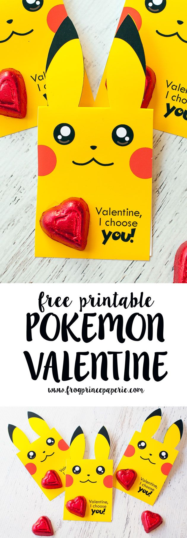 Pick up an easy to assemble free printable Pokemon Valentine that's perfect for Pokemon fans who have classroom Valentines to hand out this year!