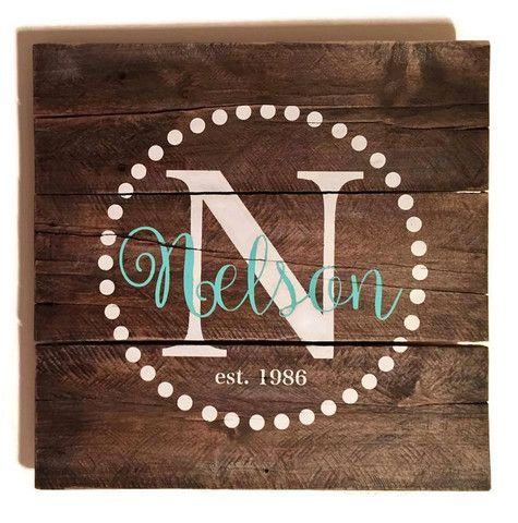 Made to Order Family Name Pallet Sign