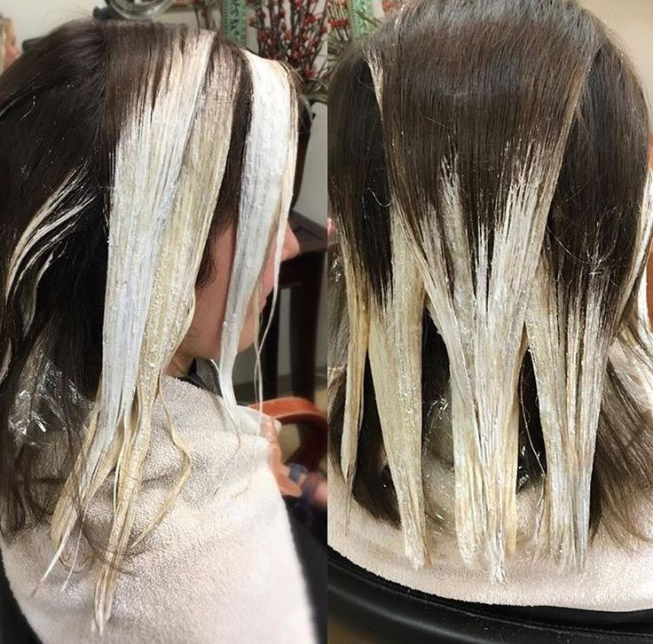 Beautiful balayage technique for a sombre effect