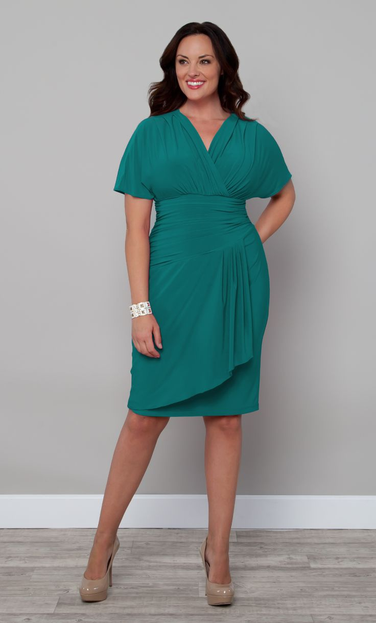 Our plus size Danika Draped Dress is a vintage inspired ...