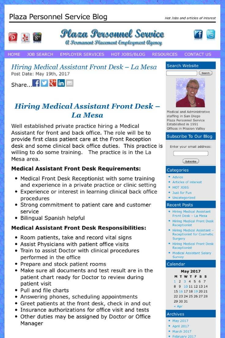 117 best medical assistant job opportunities in san diego - Back office roles and responsibilities ...
