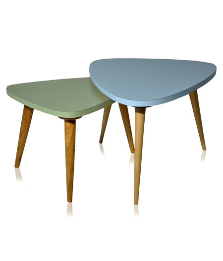 mesas de canto, mesas de centro.
