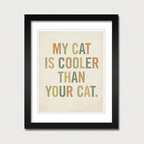 must must must have!: Cat Art Print, Cool Cats, Crazy Cat, Cat Ladies, Cat 8X10, Cat Prints, Cat Lol, Cat Lady, Cat Room