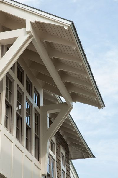 exposed rafter tails.  Geoff Chick & Associates.