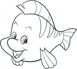 disney how to draw flounder - Simple Cartoon Drawings For Kids