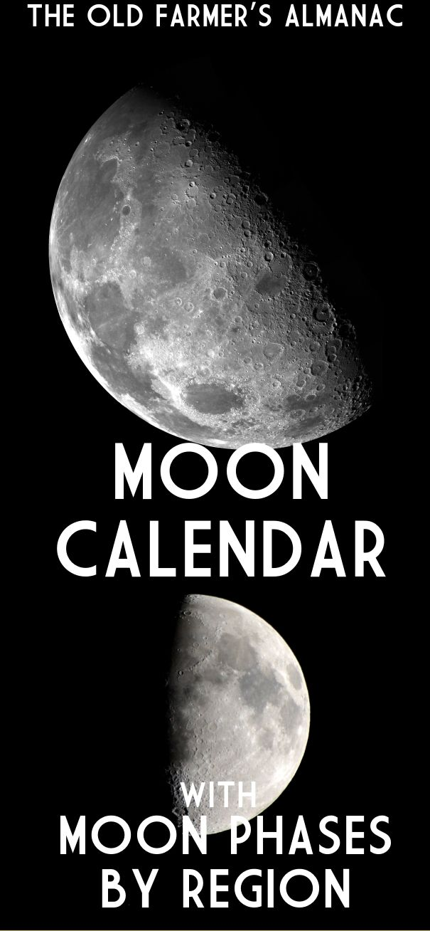 Check out the Old Farmer's Almanac's Lunar Calendar! Search for your town and track the moon's phases!