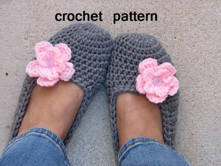Adult Slippers Crochet Pattern PDF,Easy, Great for Beginners, #crochet