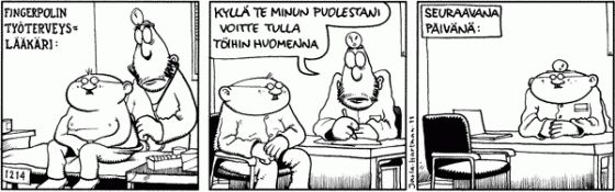 Fingerpori 31.1.2011 - Helsingin Sanomat