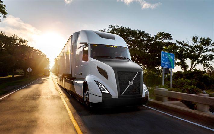 Descargar fondos de pantalla Volvo VNL, 2017, estados UNIDOS, la entrega, el Volvo Trucks, sueco, camiones, Volvo