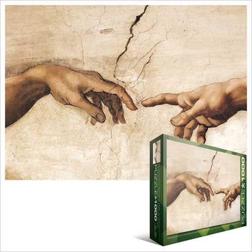 Creation of Adam Hands Detail Jigsaw Puzzle by Michelangelo - love this detail, such a good puzzle!