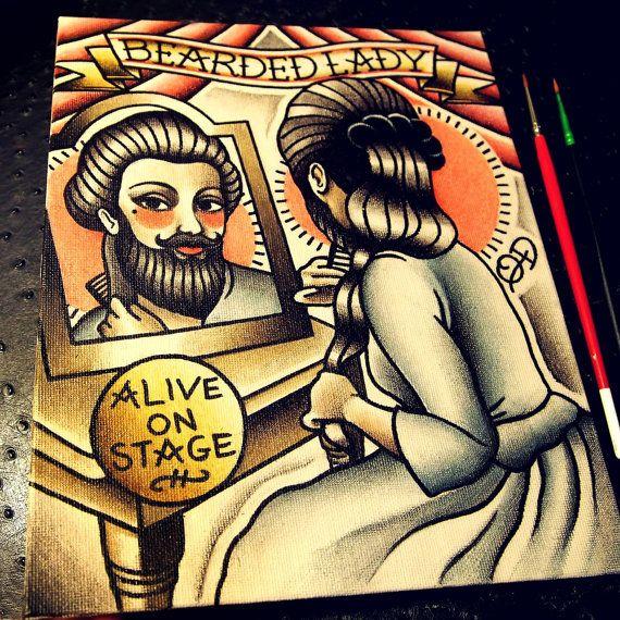 1000 ideas about bearded lady on pinterest bearded lady for Tattoo freak costume