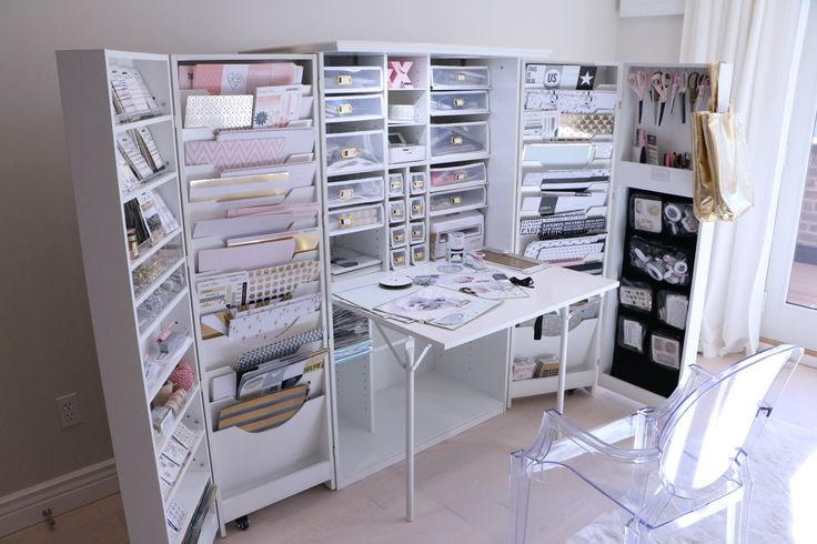 This is the ultimate craft cupboard- it's on my Christmas list!!!