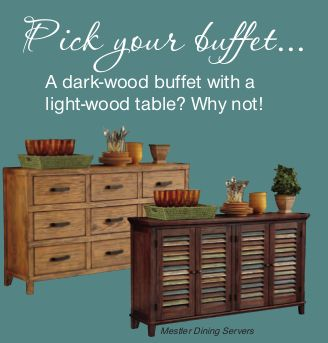 Great Do You Prefer A Dark Wood Buffet With A Light Would Table? Why Not! Awesome Design