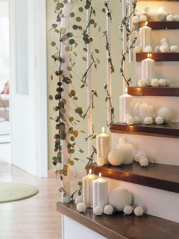 decoracin de navidad casera con escaleras