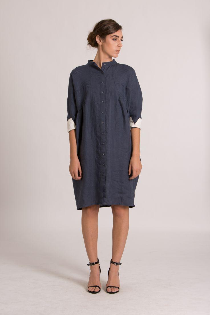 LINNIE DRESS - indigo