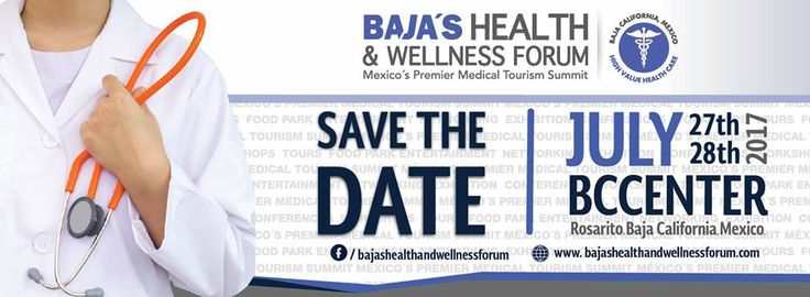 Be a part of the first health and wellness forum in the state: Baja's Health & Wellness Forum, an important space where doctors, health insurers, health service providers an potential clients can meet up. We invite you to come and find the best alternatives of the sector in #BajaCalifornia  July 27th and 28th at the Baja California Center Visit www.bajashealthandwellnessforum.com for more details.