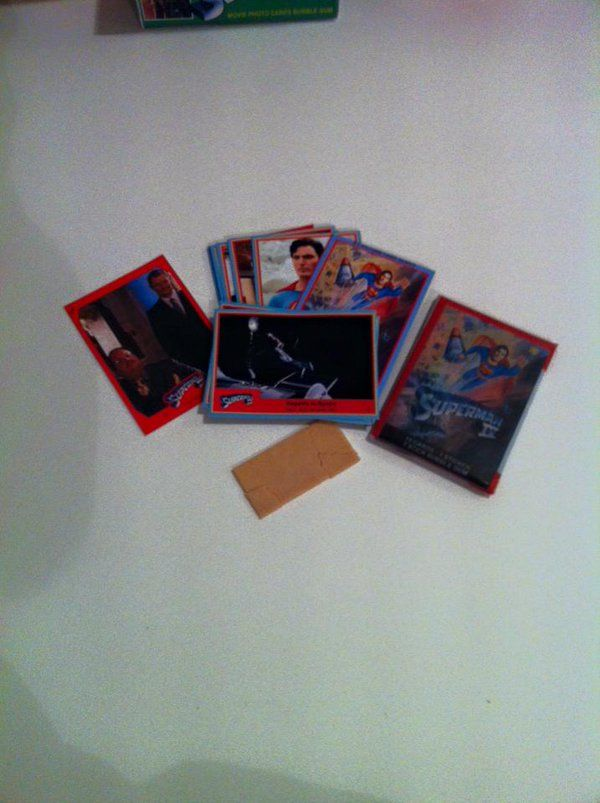 Superman 4 Quest for Peace Wax packs and trading movie cards. Topps