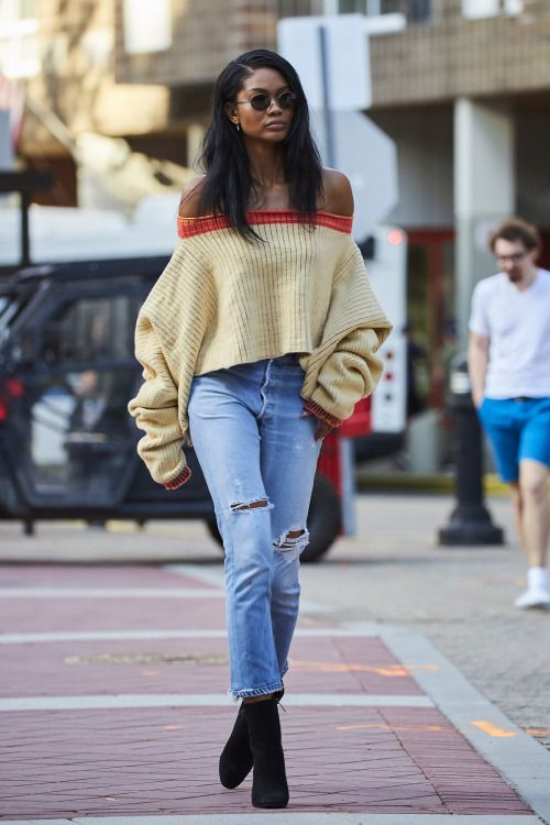 """celebritiesofcolor: """"Chanel Iman out in NYC """" MORE FASHION AND STREET STYLE"""